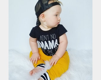 Baby leggings - Toddler Leggings - Baby jeggings - Baby Clothes - mustard stripes