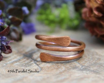 Copper Ring, Copper Paddle Ring, Arthritis Ring, Copper Ring Women, Copper Jewelry, Rustic Jewelry, Gift for Her