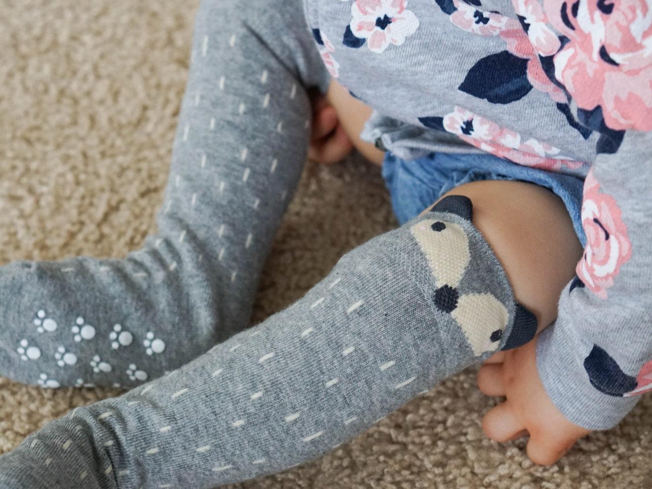 Baby RACCOON SOCKS PERSONALIZED Knee High Fox Socks Animal