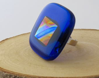 Statement Fused Glass Ring