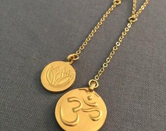chenoa - om lotus lariat y necklace