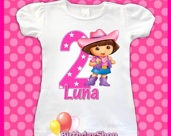 Dora Birthday Shirt / 1st, 2nd, 3rd, 4th, Birthday Shirt / Birthday Girl Shirt, Dora Explorer Birthday Shirt /  Birthday Shirts