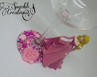 Personalised Disney Princess Aurora Sleeping Beauty Wine Glass