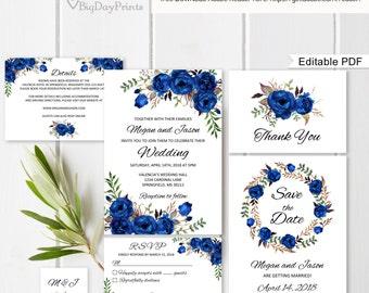 royal blue wedding etsy. Black Bedroom Furniture Sets. Home Design Ideas