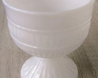 Milk Glass Pedestal Bowl