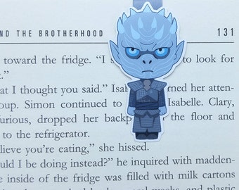 Night King - Magnetic bookmark - game of thrones || book lover gift | White Walker | bookmark | bookish | bookmarks | magnetic bookmarks
