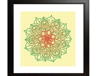 Autumn Mandala Print - Wall Art - Home Decor