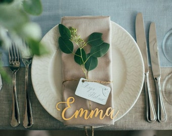 Place Name.Wooden Wedding Place Setting.Wedding Place Cards.Wooden Wedding Place Name