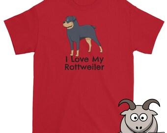 I Love My Rottweiler Shirt, I Love My Dog Shirt, Dog Love Shirt, Cute Dog Shirt, Puppy Shirt, Rottweiler T Shirt, Dog T Shirt, Pet Shirt