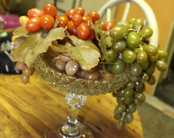 Indiana Glass Diamond Point Footed Bowl / Compote *Shipping Included*