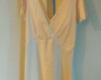 Dress in Ecru silk T38/M