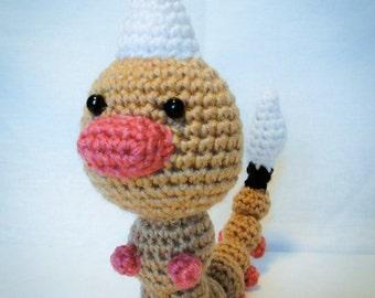 Weedle Pokémon - amigurumi crochet plush toy