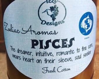 Pisces Zodiac Candle 9 oz