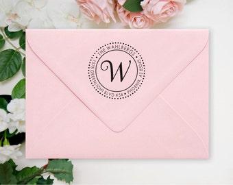 Return Address Stamp - Round Address Stamp - Self Inking Address Stamp - Personalized Address Stamp