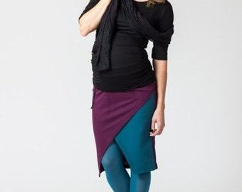 Maternity Color-Block Skirt  - Plus Size Skirt - Maternity Skirt - Low Waist Skirt