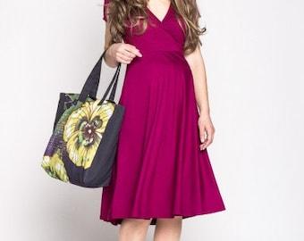maternity dress nursing wrap dress raspberry plus size dress black midi dress red oversize dress baby