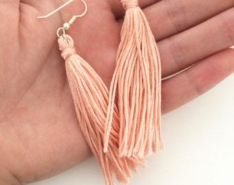 Tassel Earrings Long Embroidery Thread