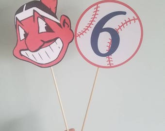 MLB any mascot cake topper with baseball topper. Any team and any age