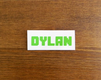 Name Vinyl Decal // Choose Your Color and Size
