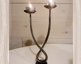 Nice hand forged candleholder