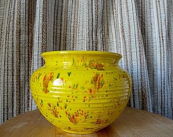 Vintage Speckled Pottery Planter