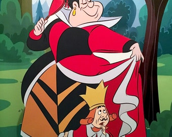Queen of Hearts and King- Alice in Wonderland - Party Decoration - Cut out/ standee