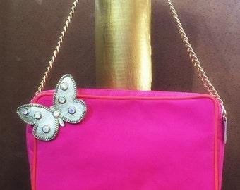 Handbag, Party bag, Handmade handbag, Unique handbag, Fuschia Handbag, Shoulder bag, Colortherapy collection!