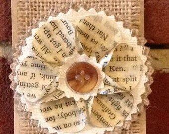 Vintage Book Brooch Hand Crafted