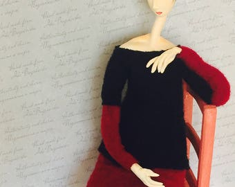 "Art doll ""Modigliani. Jeanne Hèbuterne. The Artist's Wife"""