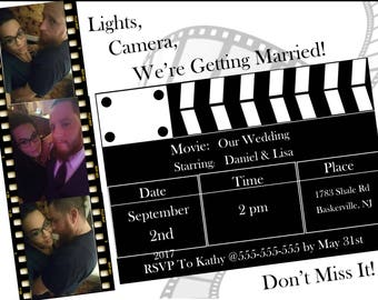 Cinema Themes Invitation for a party or wedding