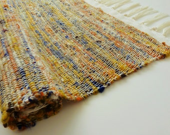 Handwoven Recycled Sari Silk Rug