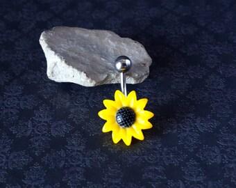 Sunflower Belly Ring