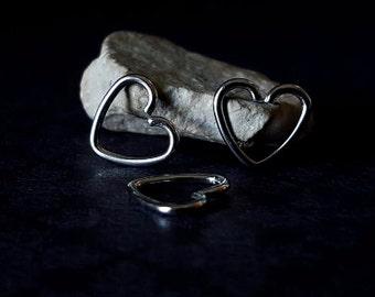 Heart Cartilage Earring (16G)