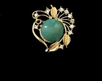50's Vintage Turquoise Brooch       GJ2545