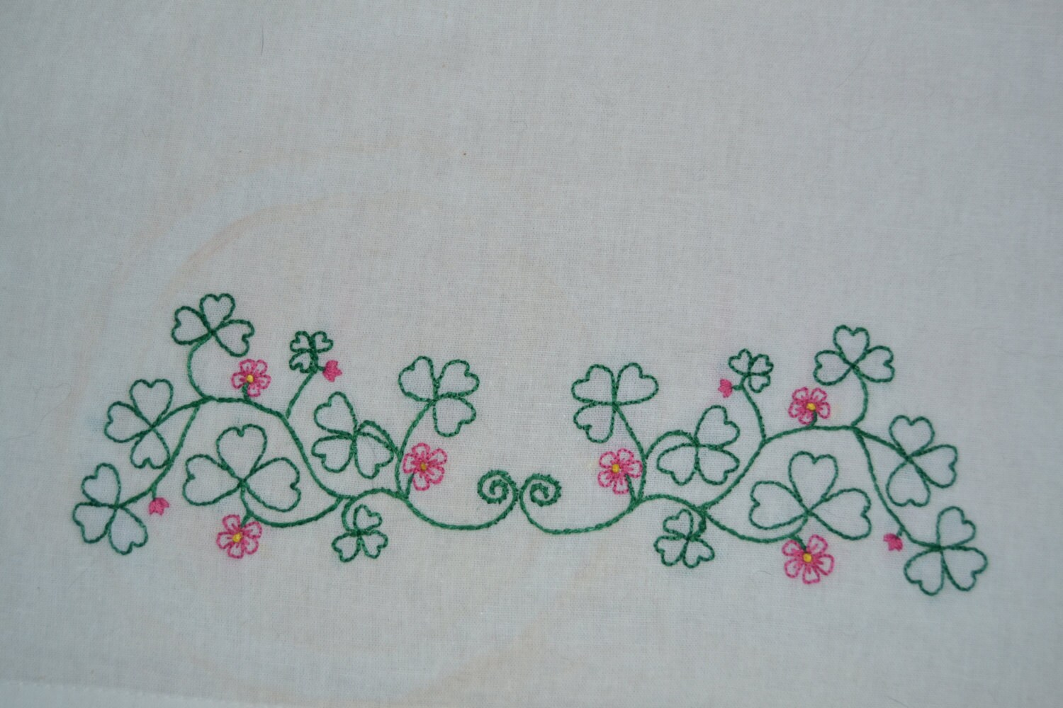 shamrock border embroidery pattern shamrock hand embroidery