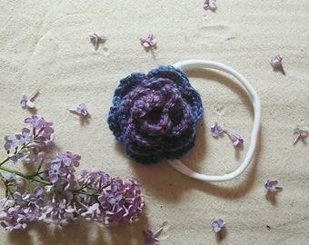 Crochet Floral Headband/ Clip