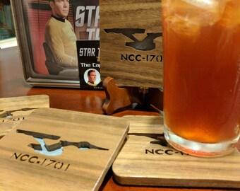 Star Trek Hand Cut Wooden Coasters