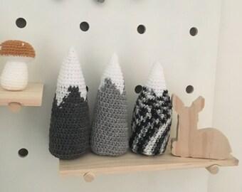 MADE TO ORDER - Crochet Mountain Nursery Decor