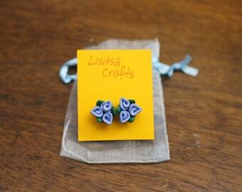 Flower Earrings-Polymer Clay