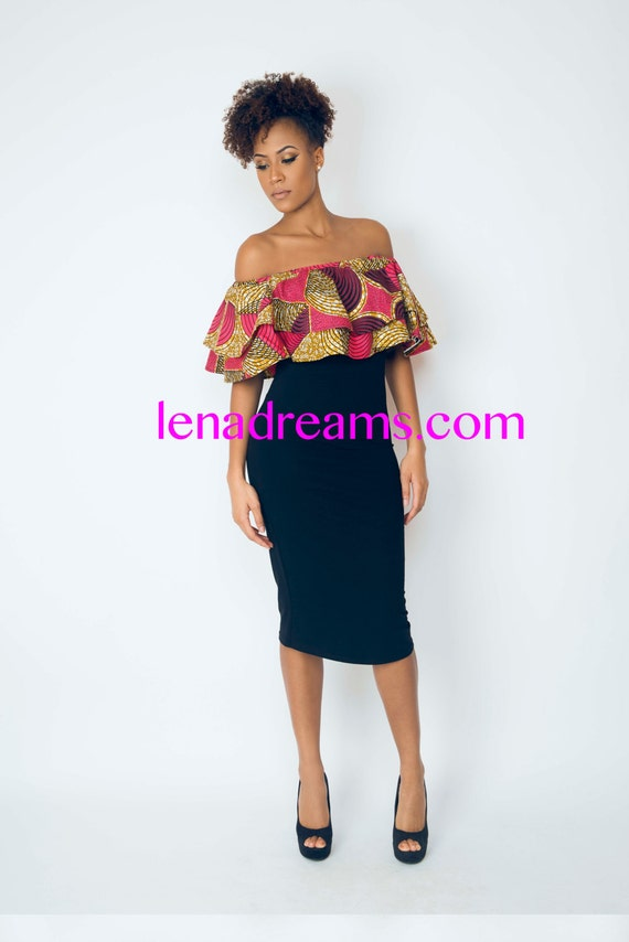 robe ati col bateau wax imprim passion rose lenadreams. Black Bedroom Furniture Sets. Home Design Ideas