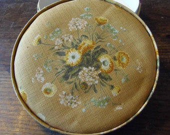 Vintage Floral French Chocolate Box with Artisan's Label
