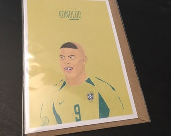 Fat Ronaldo Birthday Card
