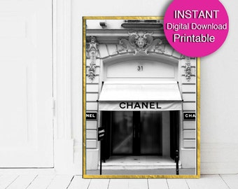Digital Chanel Print, 31 rue Cambon - Paris Photography Download - Printable Art