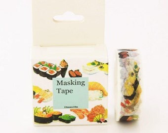 SALE! I Love Sushi Masking Tape Japanese Washi Tape Deco Tape - 15mm x 10m