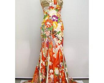 Hurisode Kimono Dress Party Dress (15-02017)