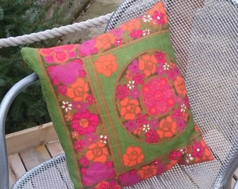 Repurposed, Recycled, Upcycled, 1970's Tea Towel Cushion Covers
