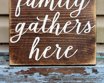 Family Gathers Here