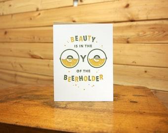 Eye of the Beer Holder Card