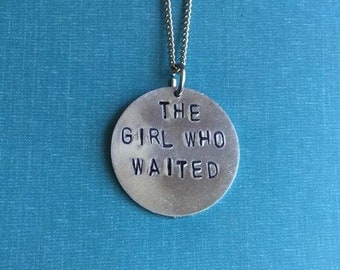Doctor Who The Girl Who Waited Hand-Stamped Metal Necklace