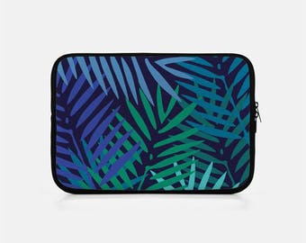 Tropical Laptop Sleeve, Palm Leaf Laptop Sleeve, Zipper Laptop Sleeve, Neoprene Laptop Sleeve 15 inch, Macbook Pro 15 inch Sleeve, Tablet